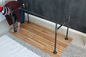 37 Diy Standing Desks Built With Pipe And Kee Klamp Simplified Throughout  Galvanized Pipe Desk Ideas ...