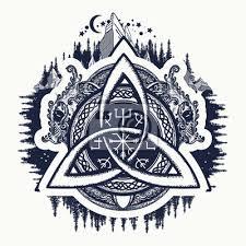 Fototapeta Draci Symbol Vikingů Helma Awe Aegishjalmur Keltský Trinitní