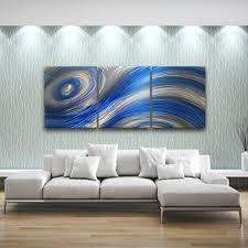 blue modern metal wall art contemporary