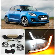 Swift Car Led Lights Details About For Suzuki Swift 2017 2019 Led Drl Daytime Running Lamp Fog Lights Harness Kit