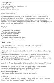 Resume Templates: Attorney