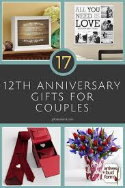17 best 12th anniversary gifts for happy couples