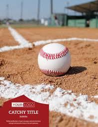 Baseball Brochure Template Baseball Sports Camp Flyer Template