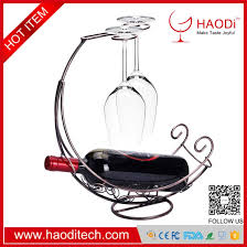 hd wh0006 bronze iron tabletop 2 wine glass display 1 bottle wine holder drying rack