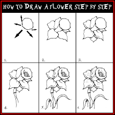 Small Picture Easy Flowers To Draw Step By Step Pictures and Drawings