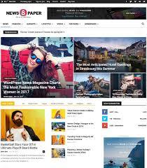 Wordpress Template Newspaper 30 Best Flat Magazine Wordpress Themes 2017 Designmaz