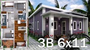Low Cost Low Budget House Design Low Budget Home Plan 6x11 Meter 3 Bedrooms House Plans S