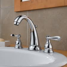 Bathroom Faucet Delta Windemere Widespread Bathroom Faucet With Double Lever