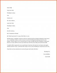 early termination of lease letter apartment lease termination letter template business
