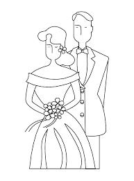 Eenvoudige Kleurplaat Van Een Huwelijk Kleurplaatjecom