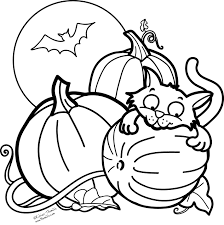 Halloween Coloring Pages Within Free Halloween Coloring Pages