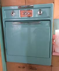 wall oven and cook top stove teal