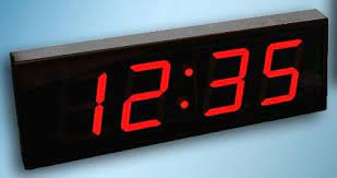 large digital led wall clock with count