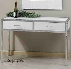 sofa hall table. Console Table Design, White With Drawer Silver Metal Two Drawers And Nailhead Ornament Wonderful Home Sofa Hall