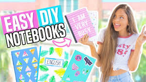 diy notebooks for back to school easy diy school supplies 2017