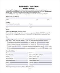 Room Rental Contract Unique Tenant Agreement Form Samples 44 Free Documents In PDF