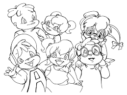 Small Picture Coloring Pages Chipmunks and The Chipettes Free Coloring Pages