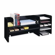 Desk Organizer Desktop Organizers Mmf Raised Shelf Design Desk Organizer