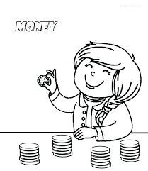 Fine Decoration Money Coloring Pages Printable Money Coloring Pages