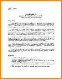 Sample Chemistry Lab Report Tirevi Fontanacountryinn Com