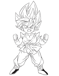 Small Picture Pages Games Goku Coloring Pages Online Goku Coloring Pages