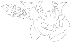 Small Picture Kirby Meta Knight Coloring Pages Sketch Coloring Page