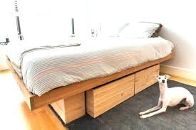 California King Bed Frame Minimalist Twin Platform Bed With Storage ...