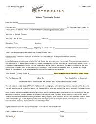 Photography Contract Template Tryprodermagenix Org