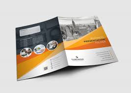 Presentation Folder Design California Modern Presentation Folder Design Template 001684