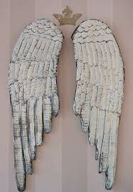 angel wings wall decor unique shabby cottage chic angel wings long white rustic french