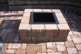 square paver patio with fire pit. Unique Patio To Square Paver Patio With Fire Pit N