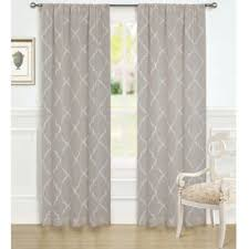 Laura Ashley 84-Inch Windsor Window Curtain Panel Pair in Taupe