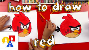 How To Draw Red From Angry Birds - YouTube