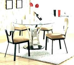 dining room tables modern round glass