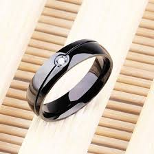 <b>Titanium Steel Twill Single</b> Ring Simple Single Rings for Men and ...