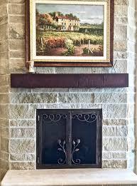 custom fireplace screen