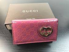 gucci key pouch. nwt gucci gg pink patent leather interlocking lovely heart key holder case gucci pouch