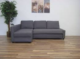 dark grey ikea friheten sofa bed with