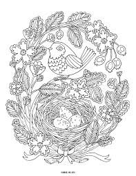 nestled in a nest coloring page