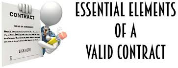 Contract Essential Elements Cool Essential Elements Of A Valid Contract