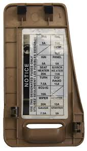 1996 1998 toyota avalon dash fuse panel box cover quartz tan 1996 1998 toyota avalon dash fuse panel box cover quartz tan 55545ac031e1