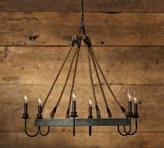 wine lighting. napa wine barrel chandelier pottery barn lighting