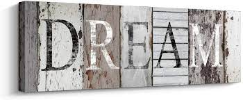Target / home / dream wall decor (14762). Amazon Com Quotes Wall Art Decor Dream Decorative Signs Inspirational Motto Canvas Prints With Solid Wood Inner Frame Dream 6 X 17 Inch Posters Prints
