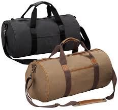 nineteen inch canvas duffle bag faux leather trim tahoe jpg