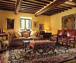 Tuscan Inspired Living Room Simple Design