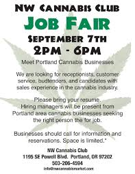 Nw Cannabis Club Job Fair This September Cannabis Chronicles