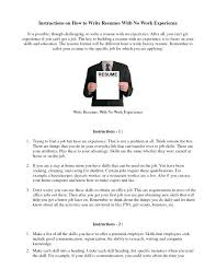 How To Prepare Resume – Foodcity.me