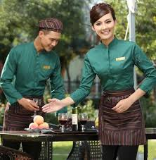 Restaurant Hostess Long Sleeve Work Wear Restaurant Uniform Waitress Uniform