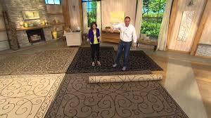 veranda living 7x10 reversible scroll design indooroutdoor rug with rick domeier 7 x 10 outdoor rug96