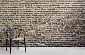 decaying wallpaper brick wall design